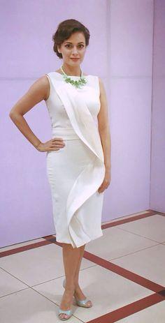 Dia Mirza at a private event in a #GauriandNainika #little # white #dress #beautiful #elegant