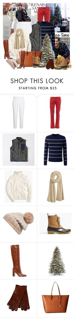 """""""Christmas"""" by sophia561 ❤ liked on Polyvore featuring Brooks Brothers, Michael Kors, Abercrombie & Fitch, Lands' End, J.Crew, Calypso St. Barth, BP., Madewell, Tory Burch and Frontgate"""