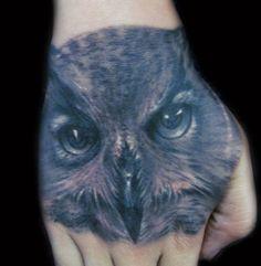 Owl Tattoo on hand - 55 Awesome Owl Tattoos  <3 <3