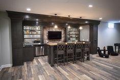 Basement Sports Bar, Basement Bar Plans, Basement Bar Designs, Home Bar Designs, Basement House, Basement Makeover, Basement Remodeling, Basement Bars, Basement Ideas