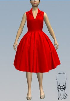 1950s Day Dress - by Amber Middaugh 2016