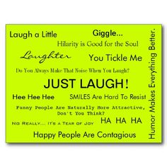 """Just Laugh!"" Postcard by April McCallum #Humor #Laughter ($1.00 each)"