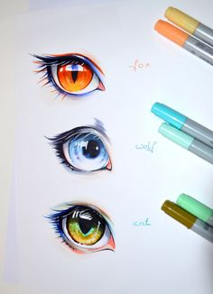 Human Animal Eyes by Lighane.deviantart.com on @DeviantArt