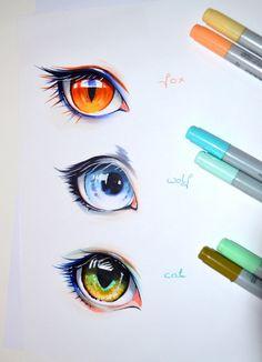Human Animal Eyes by Lighane.deviantart.com on @DeviantArt