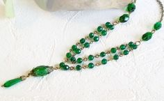 Vintage Beaded Necklace by ArKaysCreations on Etsy