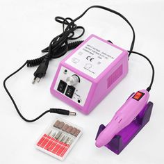 Buy Electric Professional Nail Drill Machine Manicure Pedicure Pen Tool Set Kit at Wish - Shopping Made Fun Stiletto Nails, Gel Nails, Manicures, Acrylic Nail Drill, Nail Drill Machine, Nail Remover, Nail Art Salon, Pen Design, Nail Dryer