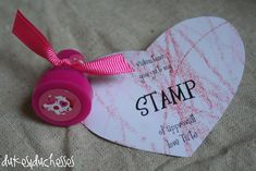 Non candy homemade valentines: stamp of approval. So sweet! Buy from Amazon! Cheap!