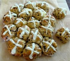 Apple Cinnamon Hot Cross Buns -  These are great!  - Julie