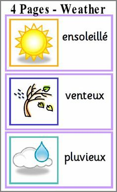 French Weather. Visit: www.emilieslanguages.com or https://www.facebook.com/emilieslanguages #emilieslanguages  #french #darwin #français #weather