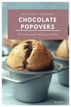 Popovers have never been easier than with this simple recipe. Brunch Recipes, Cake Recipes, Dessert Recipes, Bread Recipes, Yummy Recipes, Souffle Recipes, Sourdough Recipes, Muffin Recipes, Easy Desserts