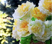 coffee filter peony flowers! good for may day baskets!