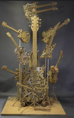- Music guitar metal art by Deveren B. Farley. #artwork #music #metal #guitar #metalart #musicart www.pinterest.com/TheHitman14/music-art-%2B/
