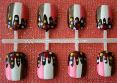 Looks yummy. Ice Cream Sundae Japanese Nail Art Choose by Nevertoomuchglitter, $9.00