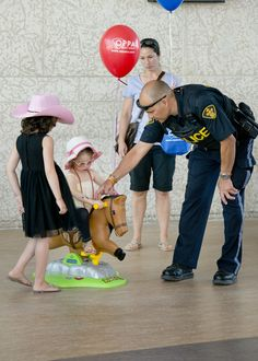 Activities for children of all ages during OPP Employee Family Day at General Headquarters in Orillia Ontario, June 2014.