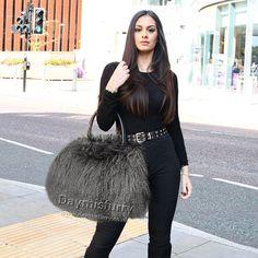 £85.00 #ootd #fur #bag #furbag #shoulderbag #handbag #womenswear #womenfashion #womenstyle #accessory #furrry #lambfur #lambfurbag #streetfashion #streetstyle #ladyfashion #ladystyle #ladyoutfit #outfits #picoftheday Fur Bag, Everyday Bag, Mongolia, Leather Handle, Street Fashion, Lamb, Black Leather, Ootd, Shoulder Bag