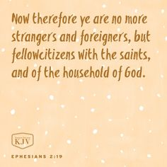KJV Verse of the Day: Ephesians 2:19