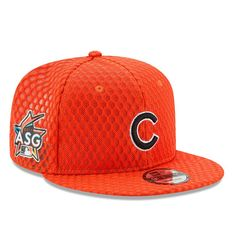 f6b1e6a85ccd2 Chicago Cubs New Era 2017 Home Run Derby Side Patch 9FIFTY Adjustable Hat -  Orange