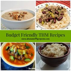 Budget Friendly THM Recipes~ Breakfast, Side Dishes, Appetizers, Dinners and Dessert!  Here are some great ideas and recipes to add to your monthly menu from many of my favorite THM friendly blogs!