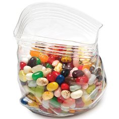 this Unzipped Glass Zipper Bag might look like it's made of plastic but take a closer look and you'll notice that it's actually a jar.