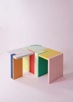 acrylic side table by nortstudio 3d Interior Design, Interior Design Software, Shelf Furniture, Furniture Design, Wooden Furniture, Movie Theater Chairs, Cuddler Chair, Acrylic Side Table, Chair Side Table