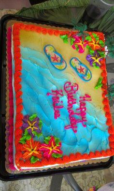 Summer Themed Birthday Cake | Decorated sheet cake ...