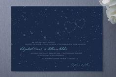 star wedding invitations | constellation invitation by Printable Press via A Practical Wedding ...