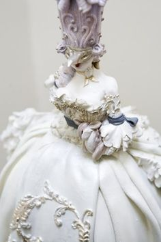 Marie Antoinette Masquerade Cake  ~ close up by antonia