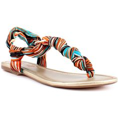 Seychelles Golden Opportunity - Orange Multi ($65) ❤ liked on Polyvore