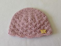 ✿ ❤ How to crochet a cute baby girl's hat for beginners