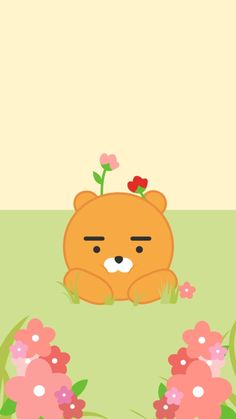 카카오프렌즈 라이언 S8 Wallpaper, Locked Wallpaper, Kawaii Wallpaper, Lock Screen Wallpaper, Best Quotes Wallpapers, Cute Wallpapers, Ryan Bear, Kakao Friends, Instagram Background