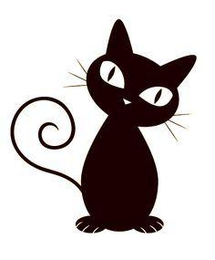 gatos negros dibujo - Buscar con Google