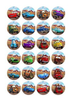 24 x Disney Pixar Cars Edible Birthday Cupcake Cake Toppers Decorations: Amazon.co.uk: Kitchen & Home