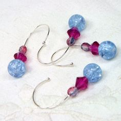 Make your crochet time easier! Removable Crochet Stitch Markers Beaded Blue and by TJBdesigns, $6.00