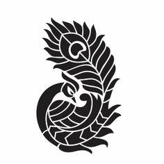 Peacock Drawing, Flower Art Drawing, Peacock Art, Stencil Patterns, Stencil Designs, Vector Design, Vector Art, Peacock Vector, Peacock Embroidery Designs