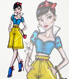 #Hayden Williams Fashion Illustrations #Disney Diva Fashionistas by Hayden Williams: Snow White