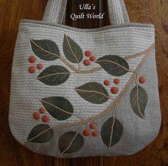 Mundo Ulla edredón: Edredón bolsa, hojas + PATRON