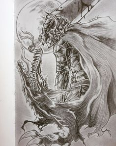 So lately I've been re-reading my absolute favorite fantasy story Berserk and I figured I'd draw some fan art, this is my first time drawing the berserker armor so it. Berserker Tattoo, Wolf's Lair, Knight Tattoo, Old School Cartoons, Fantasy Story, Animal Tattoos, Dark Art, Dbz, Pencil Drawings