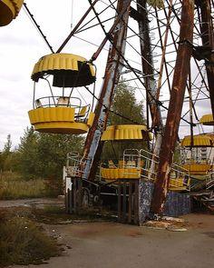 Abandoned amusement park near Chernobyl