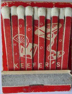 KEEFERS KING CITY CALIF --Vintage Matchbook -- A Lifetime Legacy -- ALifetimeLegacy.com