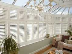 Transform your Conservatory with our Shutter collection, all handcrafted in the UK. Book your appointment today for made to measure Conservatory Shutters. Conservatory Interiors, Conservatory Dining Room, Conservatory Design, Conservatory Ideas Interior Decor, Conservatory Furniture, Loft Design, House Design, Design Design, Edwardian Conservatory
