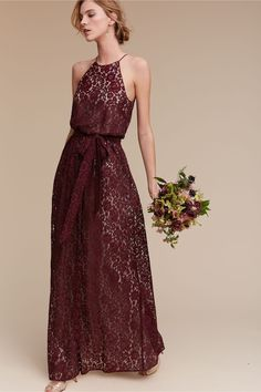 7c255789fd7c allover lace | Alana Lace Dress in Black Cherry from BHLDN Bronze  Bridesmaid Dresses, Junior