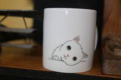 Hand painted animal mug cup  Cute  mug cup  by CreativeStoneCera