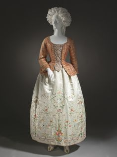 Caraco and Petticoat 1760-1780 The Los Angeles County Museum of Art