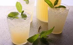Ginger adds zing to this Mojito recipe, which turns the classic cocktail into a make-ahead batch cocktail.