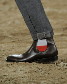 Modern idea of the 1800's pantaloon. Instead of having a stirrup it can adjust the size around the ankle.