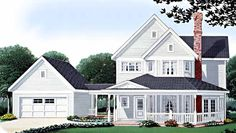Eplans Farmhouse House Plan - Three Bedroom Farmhouse - 1832 Square Feet and 3 Bedrooms(s) from Eplans - House Plan Code HWEPL73962