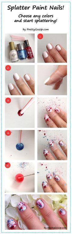 Splattered Nails Option 2