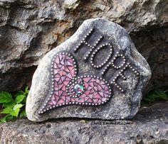 """Hope"" Heart Mosaic Garden Stone | Flickr - Photo Sharing!"