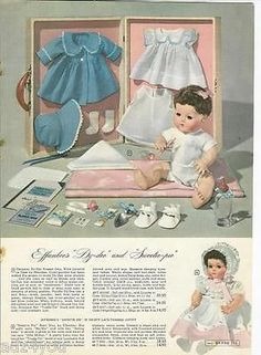 1948 Vintage Catalog Ad for Effanbee DY-DEE/DYDEE and Sweetie-pie Baby Doll~40s