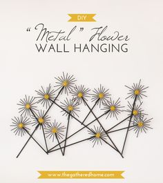 """This DIY CB2-Inspired """"Metal"""" Flower Wall Hanging couldn't be simpler to make! With just a few craft store supplies, this step-by-step tutorial will show you how easy it is to make your own fun and modern wall hanging."""